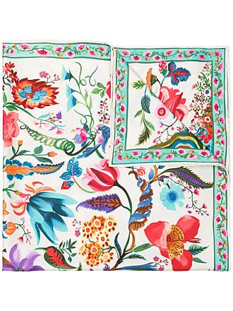Salvatore Ferragamo Tree of Life print scarf - Multicolour