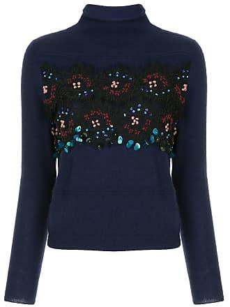 Onefifteen Suéter de cashmere com paetê - Azul