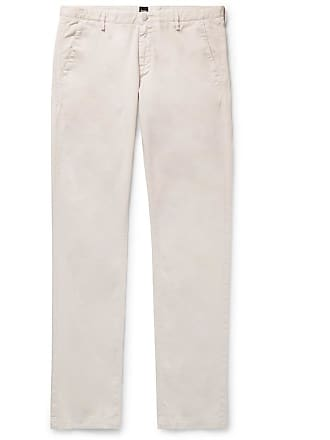 a8e8b543a HUGO BOSS Slim-fit Stretch-cotton Twill Chinos - Beige
