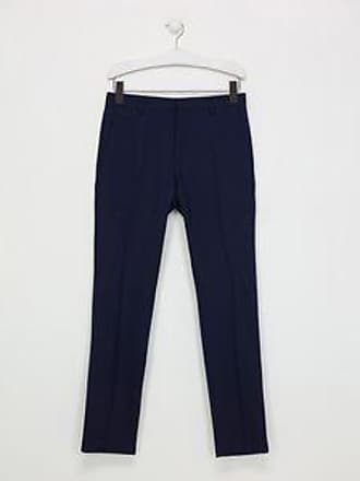 c67f99d9619844 Calvin Klein Pantaloni 98% Lana Taglio Slim Navy