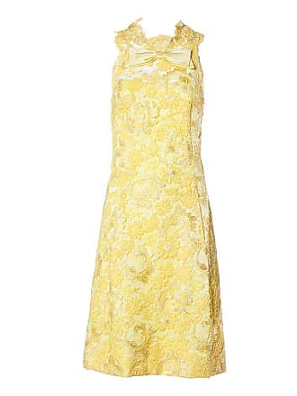 ce2083f4f8d 1stdibs Mary Sachs Vintage Couture 1960s Metallic Yellow Lace Shift Dress