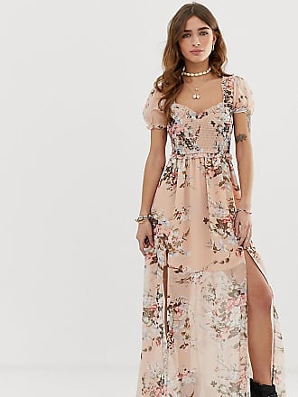 8114066d1d3 Sisters of the Tribe Sisters Of The Tripe Petite ruched top maxi dress in  floral