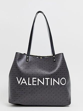 cf44a32e76 tumbled black soft tote bag in black. Delivery: free. Mario Valentino  geometric print branded shopper bag