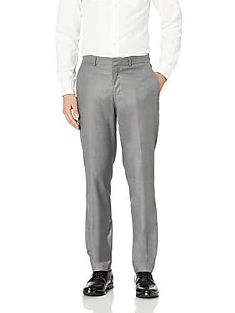 Kenneth Cole Reaction Mens Slim Fit Suit Separate Pant (Blazer, Pant, and Vest), Light Grey Basketweave, 28x32