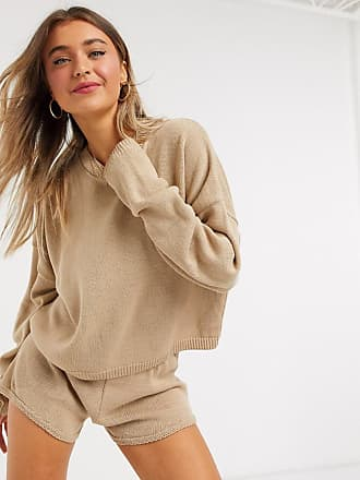 In The Style x Lorna Luxe lola knitted jumper co ord in stone-Beige