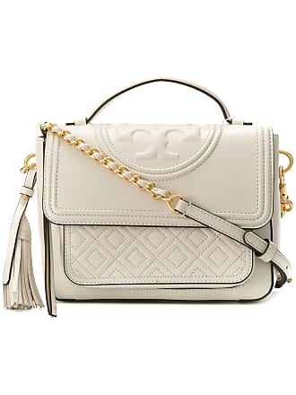 Tory Burch quilted foldover shoulder bag - Tons Neutres ae80a77d43d8