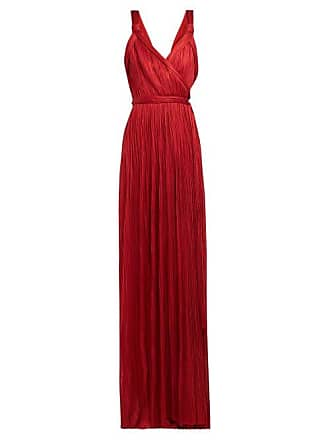Maria Lucia Hohan Amena Plissé Tulle Wrap Dress - Womens - Red