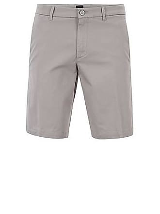 bc742d7de BOSS Slim-fit shorts in satin-touch stretch fabric