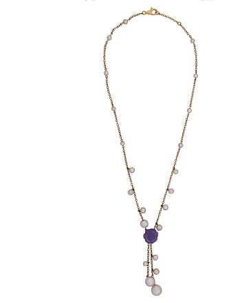 MIMI MILANO Lavender Jade Pearl Rose Gold Necklace
