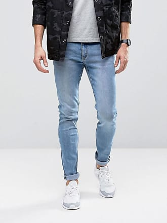 Cheap Monday Skinny Jeans in Stonewash Blue - Blue