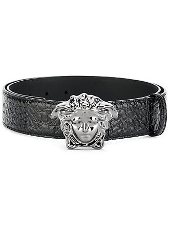 Versace crocodile-effect Medusa Palazzo belt - Black