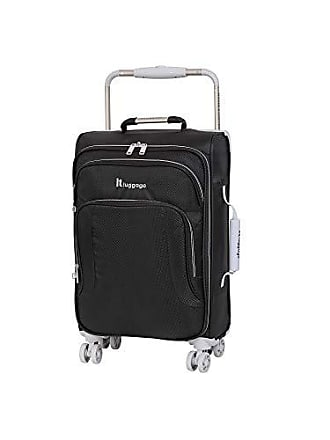 IT Luggage IT Luggage 22 Worlds Lightest 8 Wheel Spinner, Raven With Vapor Blue Trim