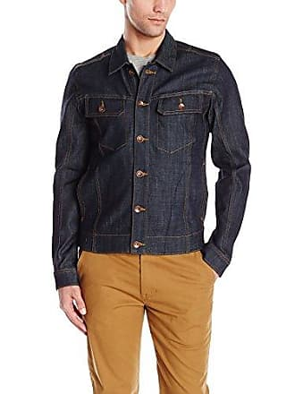 William Rast Mens Erwin Denim Trucker Jacket, Raw, Small