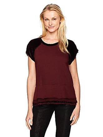 Wilt Womens Peplum Sweatshirt Mixed, Bordeaux S