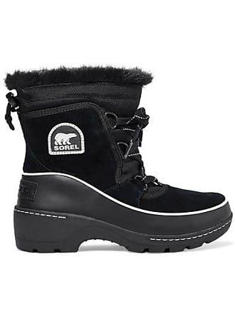 c6ef39764 Sorel Torino Faux Fur-trimmed Waterproof Suede, Shell And Leather Ankle  Boots - Black