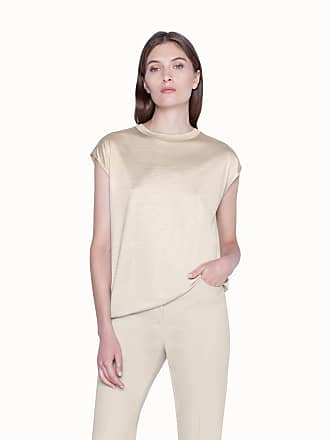 Akris Tunic Shirt in Silk Jersey with Cap Sleeves