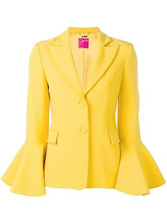 Blumarine ruffle sleeve blazer - Amarelo