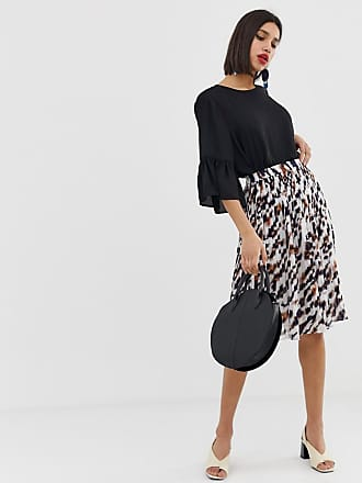 d3695187625a Vero Moda pleated animal print skirt