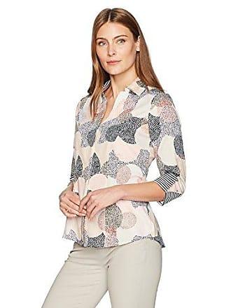 Foxcroft Womens Taylor Layered Dots Wrinkle Free Shirt, Multi, 8