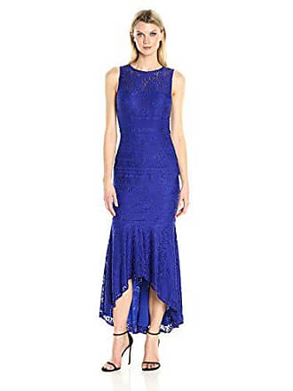 JS Collections Womens Lace Hi Lo Gown, Colbat, 16
