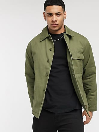 Topman utility jacket in khaki-Green