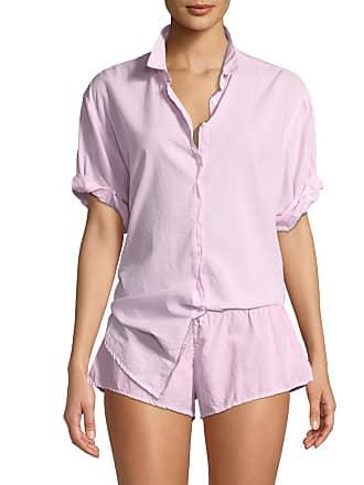 Xirena Channing Poplin Short-Sleeve Pajama Shirt