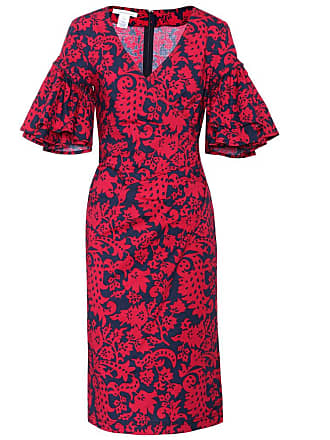 Oscar De La Renta Floral-printed cotton dress