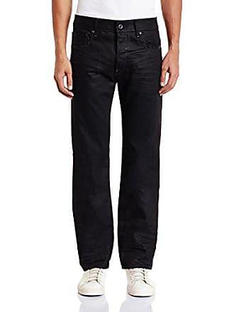G-Star Mens Attacc Straight Fit Jean In Hoist Black Denim Medium Aged, Medium Aged, 30x32