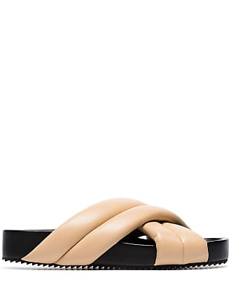 Jil Sander padded crossover sandals - Neutrals