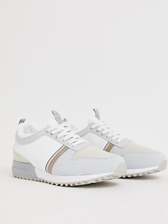 16453f8d9708b6 River Island Weiße Sneaker mit verschiedenen Details - Weiß