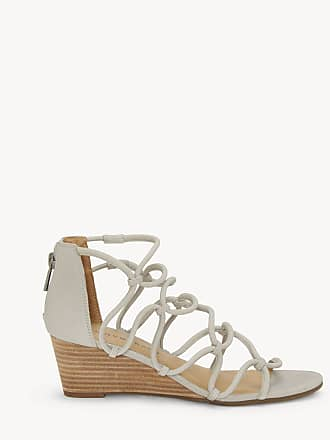 Lucky Brand Womens Jilses Strappy Wedges Sandals Chinchilla Size 5 Leather From Sole Society
