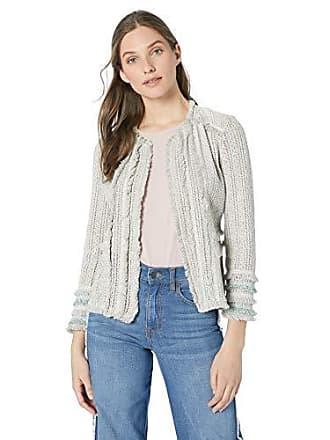 Nic+Zoe Womens Ruffle Cuff Jacket, Sage Medium