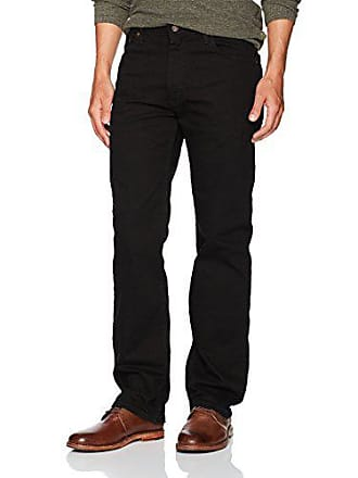 Wrangler Mens Regular Fit Comfort Flex Waist Jean, Black, 33X30