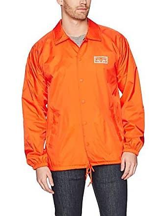 Obey Mens Eyes Coaches Jacket, Orange, XXL