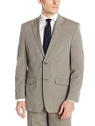 924d03910 Savane Mens Tailored Light Pinstripe Suiting Jacket, Taupe, 42 REGULAR
