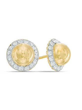414b16ad3 Zales Crystal Frame Ball Stud Earrings in 14K Gold