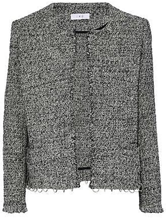 Iro Iro Woman Vivien Ring-embellished Cotton-blend Tweed Jacket Gray Size 40
