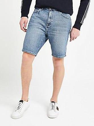 Wrangler Mens Wrangler blue denim shorts