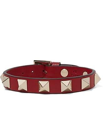 dc2c9bd30151 Valentino Valentino Garavani The Rockstud Leather Bracelet - Red