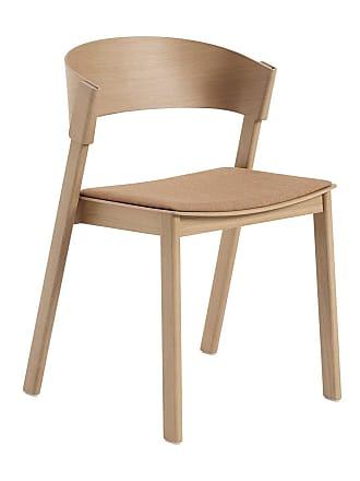 MUUTO Cover Stuhl gepolstert - eiche/Sitz Textil Remix 252 gepolstert/BxHxT 53,6x75,4x45,4cm/Gestell eiche