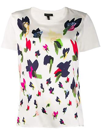 Escada floral print T-shirt - Branco