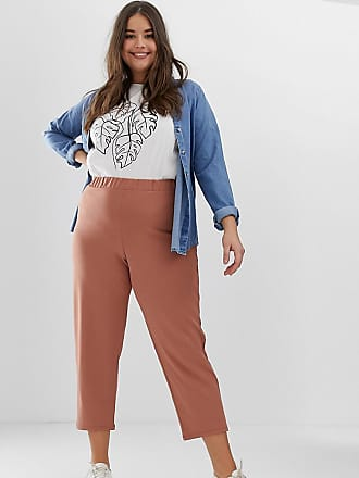 915a47b7b7 Asos Curve ASOS DESIGN Curve pull on tapered trousers in jersey crepe
