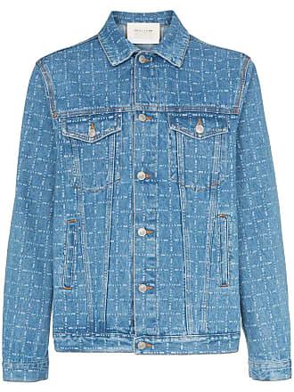 Alyx logo print denim jacket - Blue