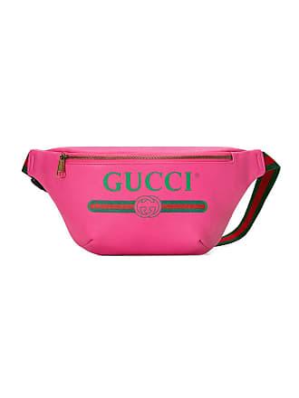 452c9081bf0 Gucci Gucci Print leather belt bag - Pink
