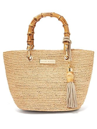 Heidi Klein Savannah Bay Bamboo Handle Raffia Tote - Womens - Beige