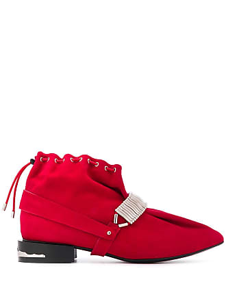 Toga Archives drawstring ankle boots - Vermelho