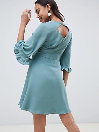 Asos Maternity ASOS DESIGN Maternity embroidered ruffle sleeve mini dress -  Multi 157829dbf
