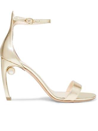 Nicholas Kirkwood Mira Metallic Leather Sandals - Gold