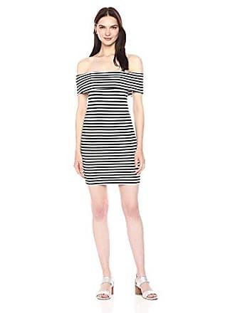 83916416e44c cupcakes and cashmere Womens Portola Striped Ponte Bodycon Off The Shoulder  Dress
