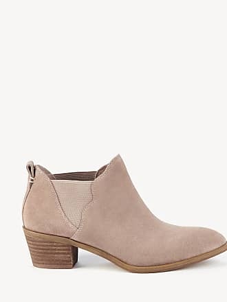 Sole Society Womens Nancy Scalloped Gore Bootie Dusty Rose Size 7.5 Leather From Sole Society